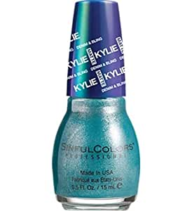 Sinful Colors Denim & Bling Kylie Jenner Nail Polish #2104 - Kustom Fit (Teal Metallic) - 0.5 Fl Oz