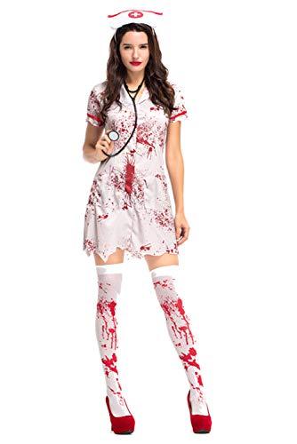 Pattistore Women's Halloween Ghost Nurse Stage Costumes Nurses