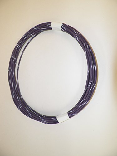 General Motors Cars And Trucks - VIOLET/WHITE STRIPED Automotive GXL Copper Wire, 16 GA, AWG, GAUGE. Truck, Motorcycle, RV. General Purpose. DEFFERENT LENGTHS AVAILABLE, SELECT LENGTH BELOW (50 FOOT COIL)