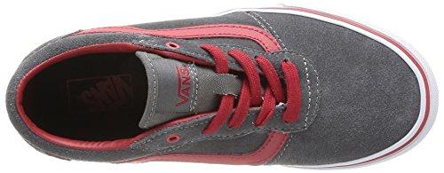 Vans Y MILTON (SUEDE) PEWTER/ - Zapatillas de cuero para niño Gris (Pewter/Chili Pepper)