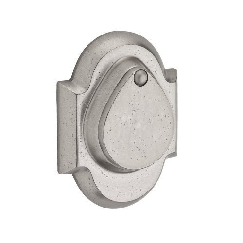 Baldwin SCRAD492 Reserve Single Cylinder Rustic Arch Deadbolt in White Bronze Finish