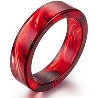 AUMRET Pattern Blood Drops Female Ring Romance Vampire Blood Resin Ring