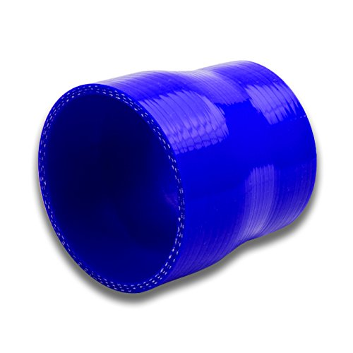 3 To 4 Straight Turbo//Intercooler//Intake Piping Coupler Reducer Silicone Hose Blue