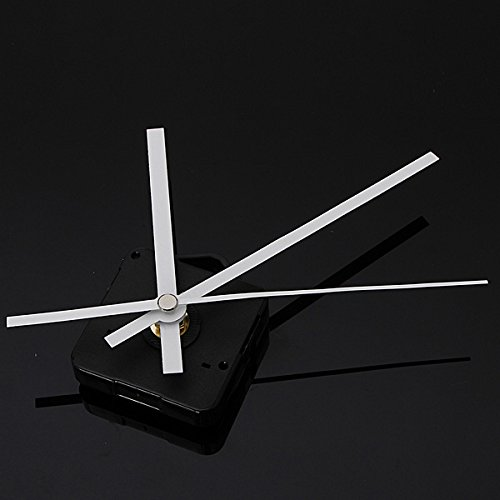 DIY White Hands Silent Quartz Movement Mechanism Wall Clock