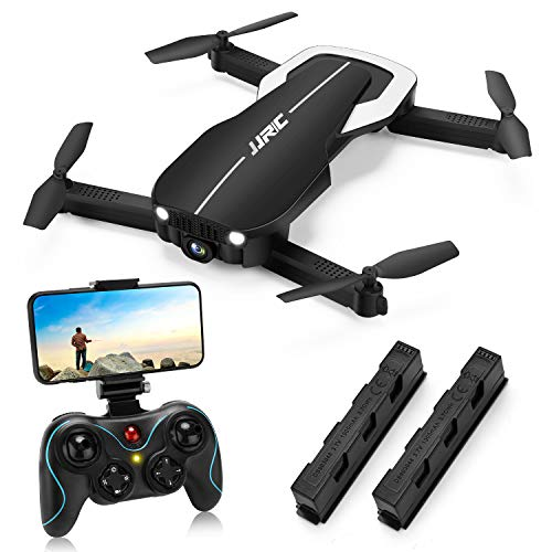 Drones with 1080P HD Camera for Beginners,JJRC H71 Foldable Drone with Optical Flow Positioning, FPV WiFi Live Video Quadcopter for Adults,22mins Long Flight Time Rc Drone-Altitude Hold (Black)