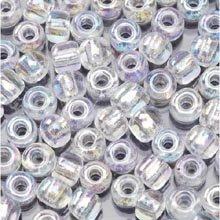 "6/0 Glass ""E"" Beads, Crystal AB, 20 Gram Pkg"