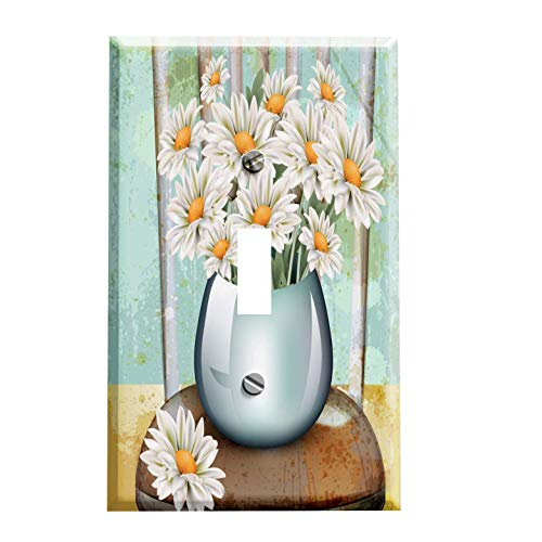 Gotham Decor Daisy Bouquet on Chair Switchplate/Switch Plate Cover