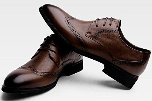 Nero Uomo Casual Da Moda Scarpe Business Intagliate Brock Brown Scarpe Marrone Da Sposa 1nqz5fxF