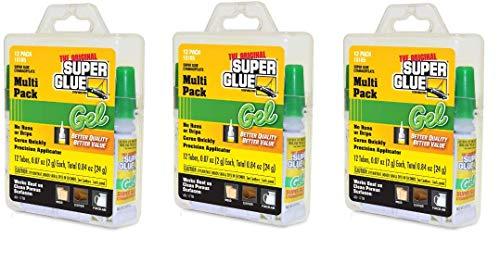 Super Glue 15185 Gel, 12-Pack.07oz Tubes (3-Pack) ()