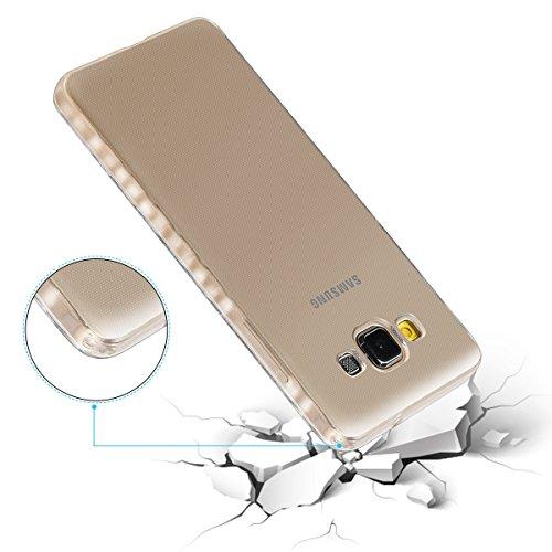 Transparente Funda Galaxy A5, Moonmini Ultra Fino Antideslizante Flexible TPU Bumper Case Crystal Clear Protector Carcasa para Samsung Galaxy A5 (2015)