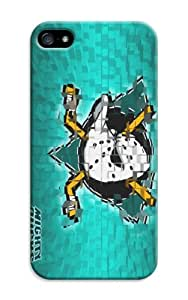 ArtPopTart Iphone 5/5S Protective Case,Fashion Popular Anaheim Ducks Designed Iphone 5/5S Hard Case/Nhl Hard Case Cover Skin for Iphone 5/5S