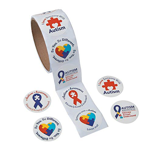 Fun Express - Autism Awareness Stickers - Stationery - Stickers - Stickers - Roll - 1 Piece -