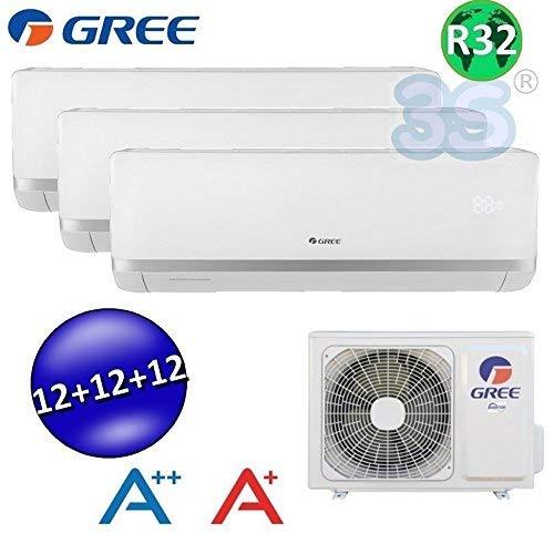 9000 12000 Btu GREE R32 classe A++//A+ Climatizzatore inverter trial split BORA 9000