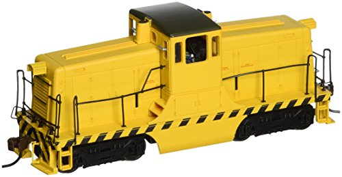 Bachmann GE 44-Ton Switcher Painted, Unlettered (Yellow with Black stripes) Locomotive HO Scale, DCC On-Board from Bachmann Trains
