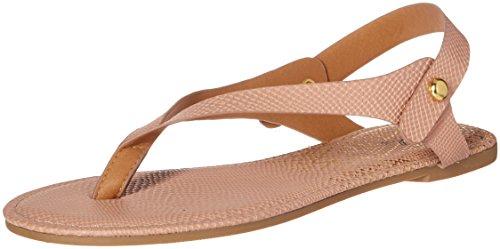 - Qupid Women's Thong Sandal Flat, Nude, 10 M US