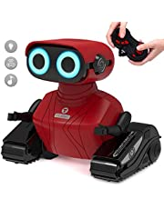 GILOBABY RC Robot Car, 2.4GHz Remote Control Robot Toy for Kids with Shine Eyes, Dance Moves, Toy for Kids Boys Girls
