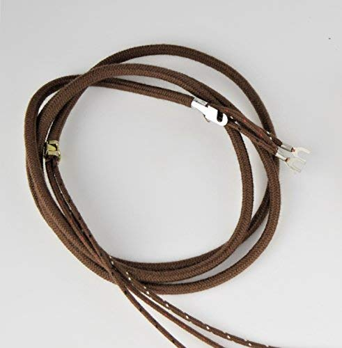 302 Phone (Cloth Covered Telephone Handset Phone Cord - Brown - Hardwire)