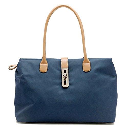 Hobo Twist Lock Handbag (Tosca Women's Dual Strap Fashion Handbag Style 9200 (Navy))