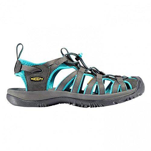 セミナー著者国Keen(キーン) レディース 女性用 シューズ 靴 サンダル Whisper - Dark Shadow/Ceramic Gray [並行輸入品]