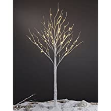 Lightshare 6FT 72L LED Birch Tree,Warm White