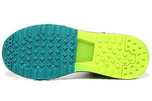 Corsa da Interior all'Aperto Sneakers 3 Casual Sportive Air Scarpe blu Fitness Basse Ginnastica Running Uomo ASHION qRIwSvnCx5