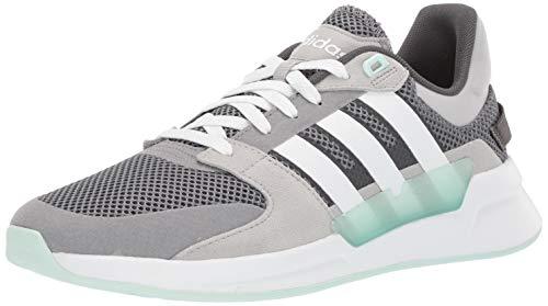 adidas Women's Run90s Running Shoe, Grey/White/ice Mint, 6.5 M US (Adidas Retro Women)