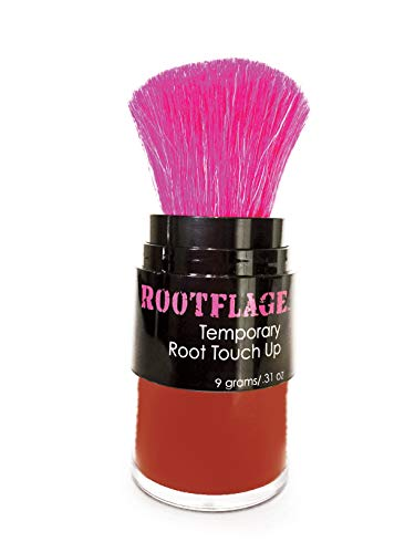 Rootflage Root Touch Up Hair Powder - Temporary Hair Color, Root Concealer, Thinning Hair Powder and Concealer and Applicator with Detail Brush Included.31 oz (15 Crimson Red)