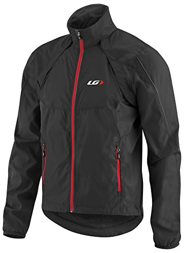 Louis Garneau - Cabriolet Bike Jacket, Black/Red, Large by Louis Garneau