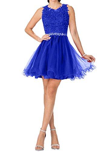 Promkleider Charmant Partykleider Tanzenkleider Royal Damen Kurzes Cocktailkleider Blau Mini Gruen Hell Spitze 0FqBS0x
