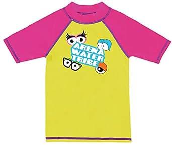 Arena Unisex Swim T-Shirt, (Size:4-5 Years) - Yellow (Yellow 009)
