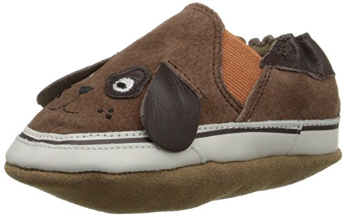 (Robeez Puppy Dog Pete Crib Shoe (Infant), Espresso, 6-12 Months M US Infant)
