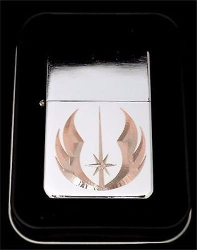 JEDI Order Star Wars Jedi Engraved Chrome Cigarette Favor Lighter Gift LEN-0014