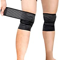 Sports Knee Wraps (Pair) Weight Lifting, Gym Workout,...