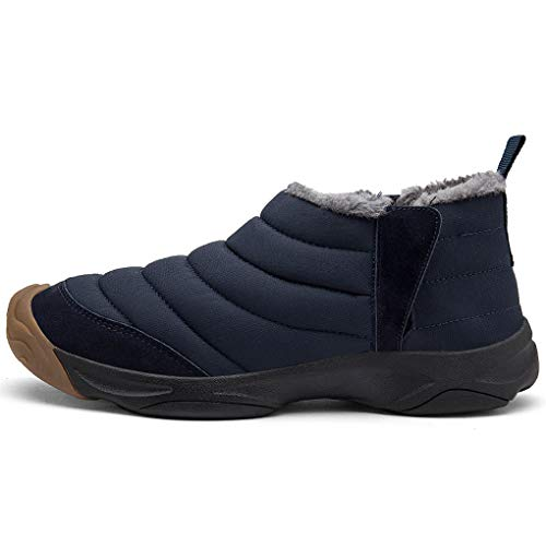 Stivaletti Pelliccia Uomo Caviglia Blu Scarpe Inverno All'aperto Bassi Impermeabili Stivali Neve Stivali da Hishoes Caldo Donna Scarpe HxSTIqRw