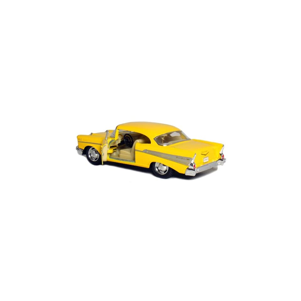 5 Die cast 1957 Chevy Bel Air Coupe 140 Scale (Yellow)