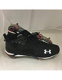 Under Armour Mens Heater II Mid ST Baseball Cleats Black Sz 16