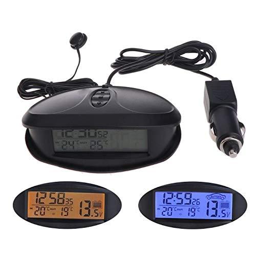FidgetFidget Thermometers Voltmeter Time Alarm Backlight Indoor Outdoor Digital Car LED Clock