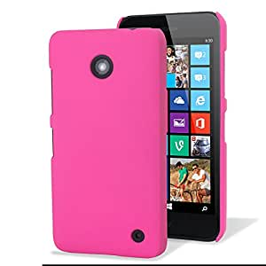 Nokia Lumia 630 / 635 Hybrid Rubberised Back Case by Terrapin - Solid Hot Pink (151-001-054_QB)