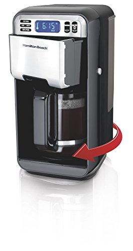 Hamilton Beach (46205) Coffee Maker with swivel feet take removing and fill of water reservoir very easy