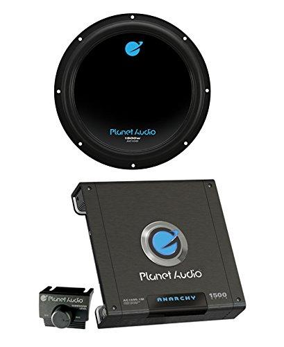 """Planet Audio AC10D 10"""" 1500W Car Audio Subwoofer + AC15001M"""