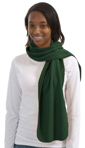 Green Fleece Scarf (Port Authority R Tek Fleece Scarf, dark green, One Size)