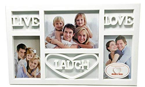 Live Laugh Love Wall Decor Picture Frame (White)