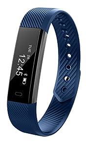 Fitness tracker montre  Soxy podomètre avec écran tactile et fin Bracelets, Wearable Bracelet d'activité comme podomètre moniteur de sommeil pour Android et iOS