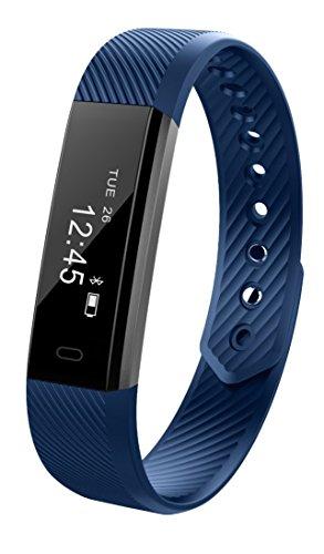 JiiJian Fitness Waterproof Tracker Watch, Step Counter Watch, Pedometer, Sleep Monitor, Smart Watch for Women Men Kids, for iOS/Android Smartphone by JiiJian