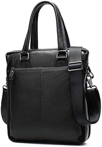 メンズレザーブリーフケース, ショルダーバッグメンズラージトートバッグ用防水レトロビジネストラベルメッセンジャーバッグ
