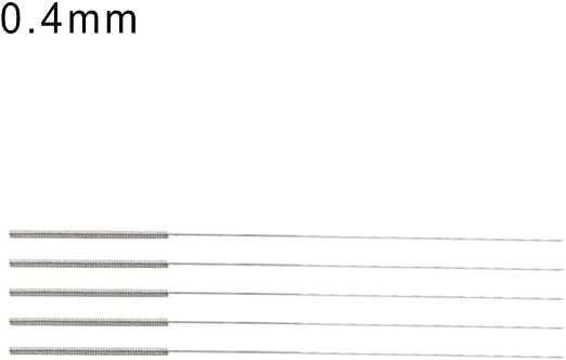 Personal Tools Working Great 5Pcs//Box 0.15//0.2//0.25//0.3//0.35//0.4mm Nozzle Cleaning Needles for 3D Printer 0.4mm Silver