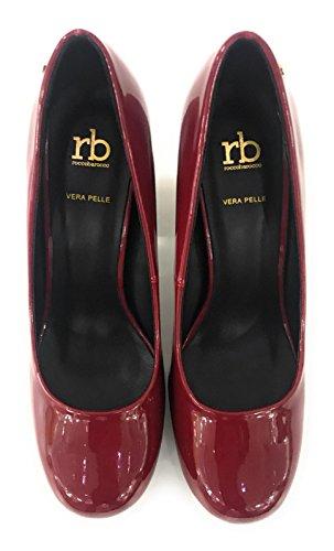 Barocco Mujer Rocco De Vestir Rojo Zapatos Charol Para RgFxwd