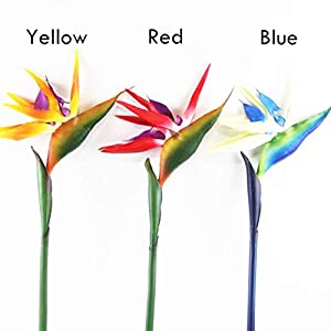 VPlus 3Pcs Artificial Crane Orchids Bird of Paradise 80cm/31.5″Fake Flower Arrangement Decoration for Home Hotel Office Table 3 Colors