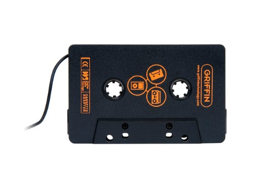 Griffin DirectDeck, Cassette Adapter for Car Stereo System - for iPhone, iPod, Mp3 Player, CD Player, Smartphones