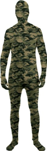 Forum Novelties Women's Teen Disappearing Man Patterned Stretch Body Suit Costume, Camo, Small/Medium - Skin Suit Camo Child Costumes